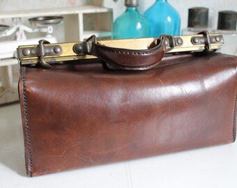 Vintage French Leather Doctor Bag