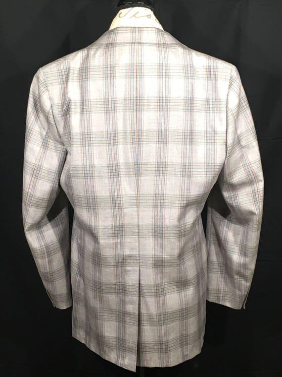 Men's Gray Business Coat Coat Vintage Men's Dress Base Sport Clothing Blue Office Coat Plaid Silver Retro Jacket Plaid Cricketeer qtfBwZ