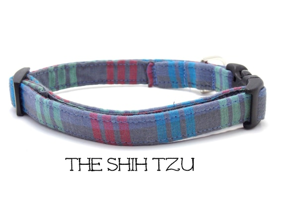 shih tzu collar gray dog collar the shih tzu striped dog collar preppy dog 5361