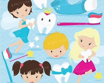 80% OFF SALE Tooth fairy clipart commercial use, vector graphics, digital clip art, digital images  - CL625