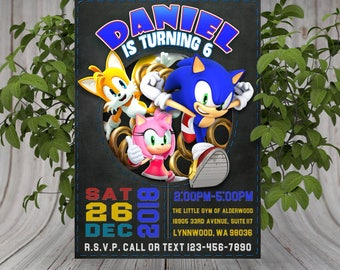 Sonic invite Etsy