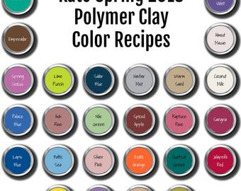 Kato brand Polymer Clay Color Recipe Ebook for Spring Summer 2018
