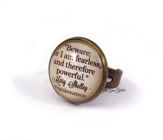 Frankenstein Buch Ring Mary Shelley Buch Zitat Schmuck