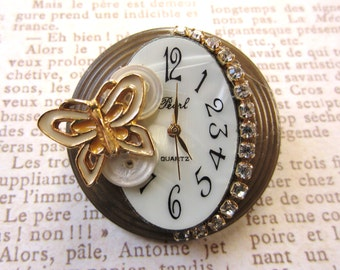 Time to Fly Butterfly Brooch