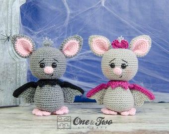 Brook the Tiny Bat Amigurumi - PDF Crochet Pattern - Instant Download - Amigurumi crochet Cuddy Stuff Plush