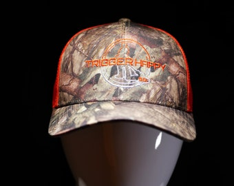 Weed Eater Hat Camo TRIGGER HAPPY GO.