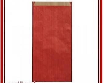 lot 25 pouches bags bags envelopes kraft 12 x 4 x 21 Red