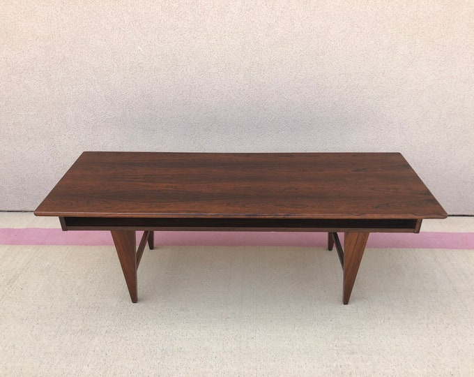 Mid Century Danish Modern Rosewood Coffee Table
