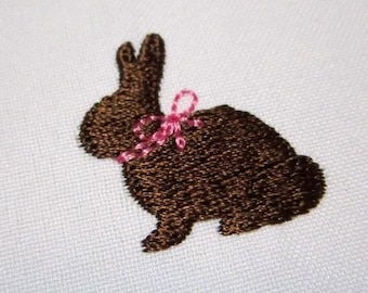 Chocolate Easter Bunny Mini Embroidery Design M28