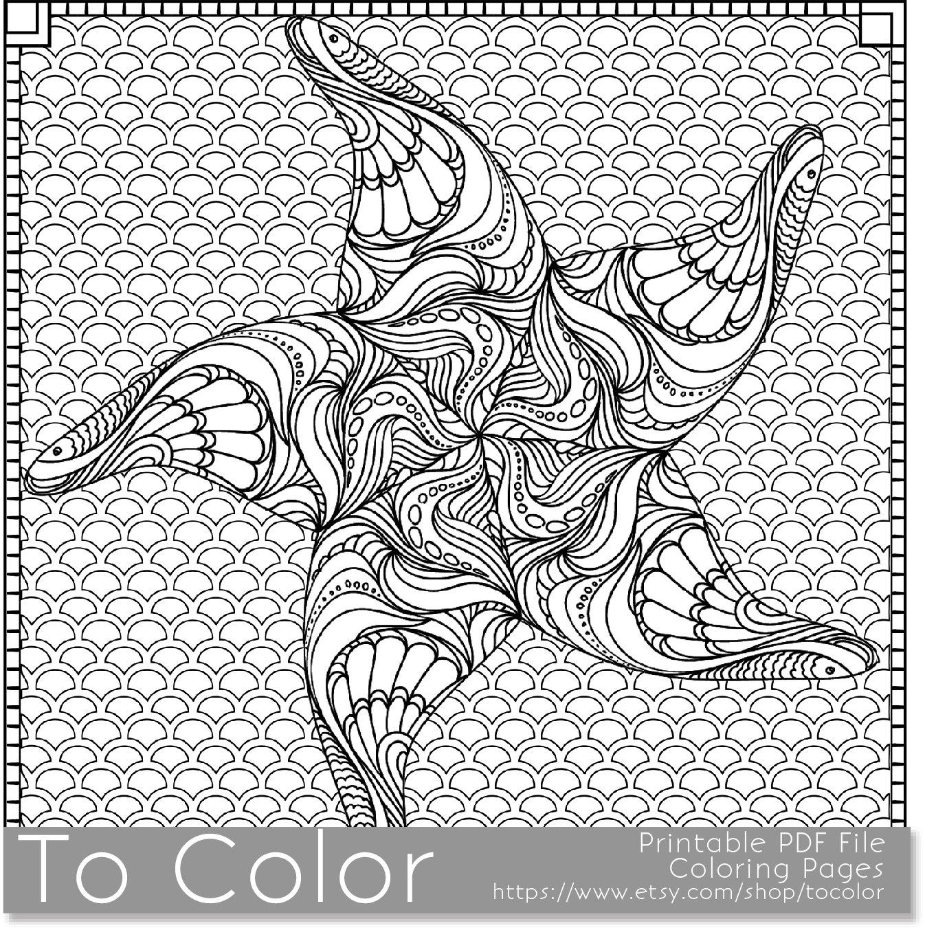Página para colorear de estrellas de mar para imprimir para