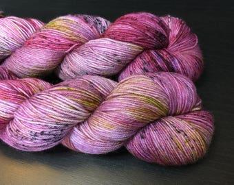 Flowering Plum - Hand Dyed Sock Yarn 75/25 SW Merino/Nylon 463 yds