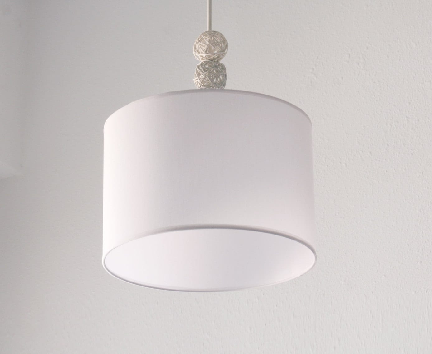 Lovely Nursery Pendant Light ~ White Nursery Lamp ~ Baby Room Lampshade ~ Custom  Hand Made