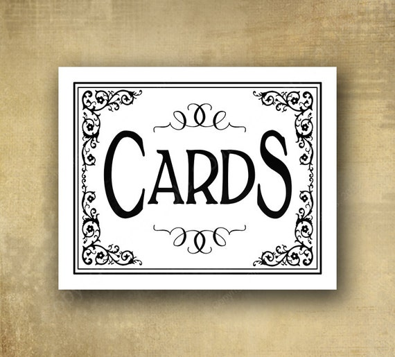 Cards Wedding sign - PRINTED Black and White wedding signage - optional add ons - Black Tie collection
