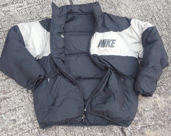 Vintage Nike Reversible Puffer Down Jacket 90s