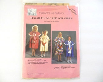 Sugar Plum CapeFor Girls Sewing Pattern sizes 2-12