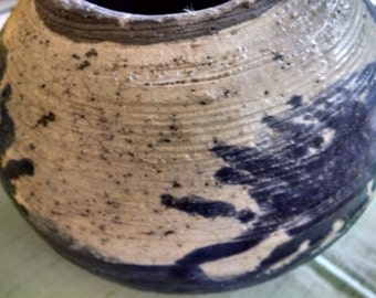 Gray  Flower Pot, Handcrafted Pottery