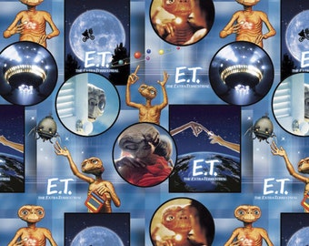 E.T. Extra Terrestrial Scenes Fabric From Springs Creative