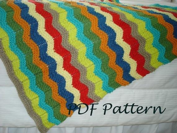 Baby Knitting Pattern Wavy Baby Blanket Pdf Knitting Pattern