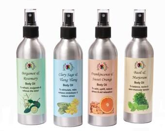 Body Oils | Handmade Aromatherapy Spray Moisturisers | Essential Oil Body Oil | Natural Skin Care | Luxury Oils | Vegan