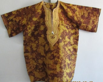 vintage hand made mens shirt from napal size x large