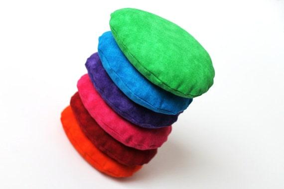 Rainbow egg shaped bean bags easter purple blue green for Hand shaped bean bags