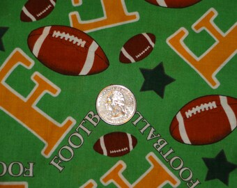 MBT Footballs Stars F is for Football Cotton Quilting Fabric BTY by the yard