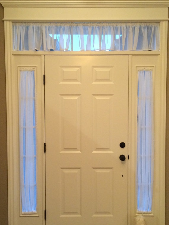 Like this item? & Gathered sheer Side window sheers and valance above door