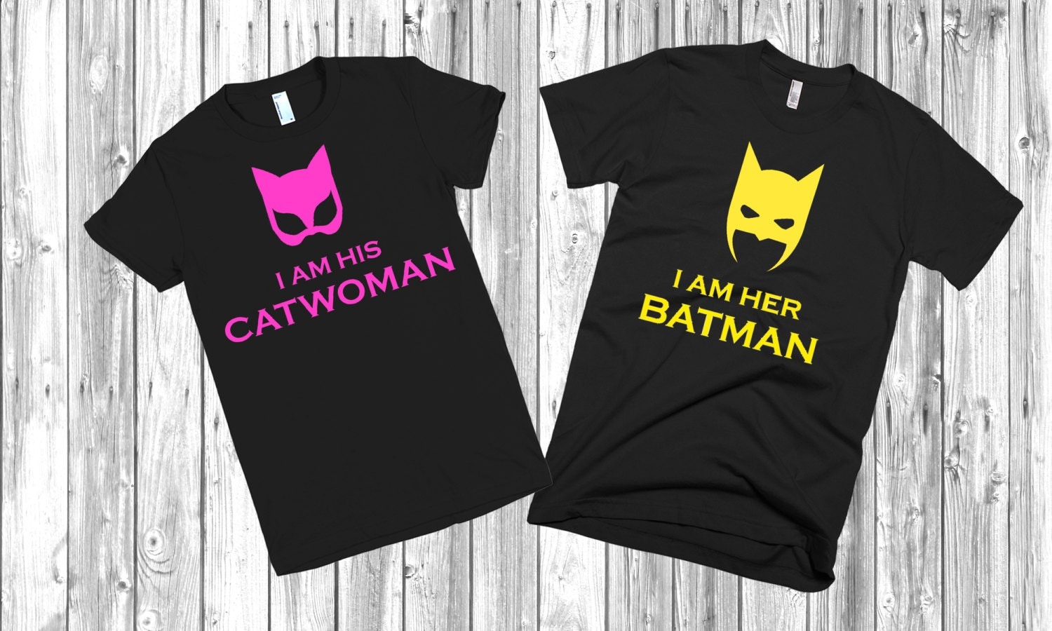 Couple T Shirts Batman And Catwoman Price For 1