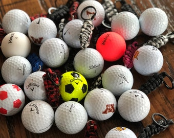 The Fairway Keychain - A golf ball keychain for the golf fanatic in your life! A great gift for Father's day! Titleist, Callaway, Nike