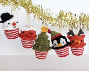Whole set of ornaments for woolen Christmas tree / Christmas tree ornaments amigurumi Full Pack