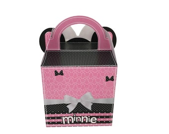 Minnie Mouse favor box, gift box, favor box with visor