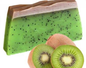 Kiwi Fruit 100g Soap Slice - Exfoliating Fruit Soap With Poppy Seeds