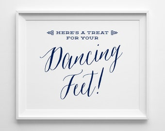 e4a969abfb2c36 PRINTABLE A Little Treat for your Dancing Feet  Summer Wedding Signs