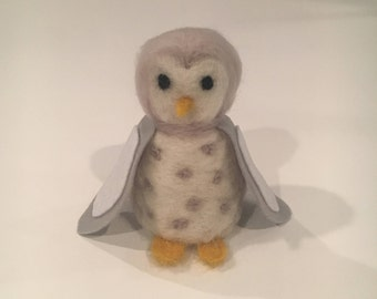 Needle Felted Snow Owl