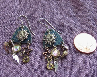 Vintage Celestial Earrings