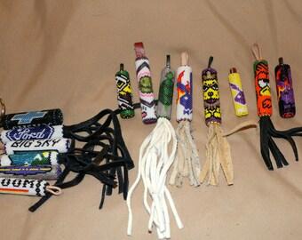 Native American Handmade Beaded key fobs