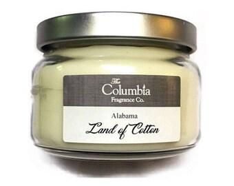 ALABAMA - Land of Cotton candle, 8 oz, optional gift box