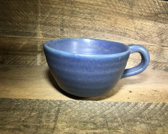Matte Blue Ceramic Mug/Teacup / Second Quality / Sale / Discounted - READY TO SHIP