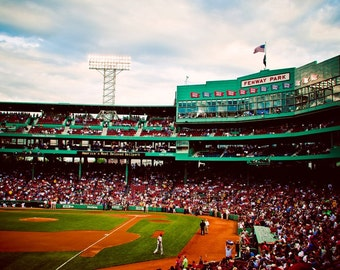 Boston Red Sox - Fenway Park Stadium Photograph - Boston Art - Baseball Decor - Mancave Wall Art - Sports Decor - Fine Art Photography