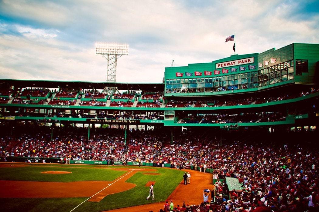 Boston Red Sox Fenway Park Stadium Photograph Boston Art