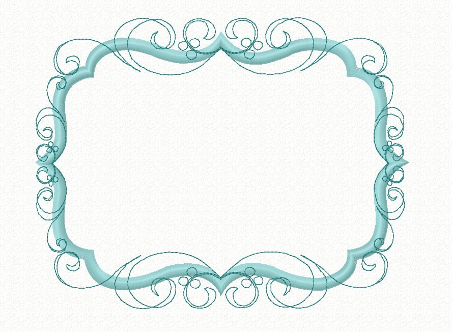Embroidery design flourish swirly frame machine applique for Embroidery office design version 9