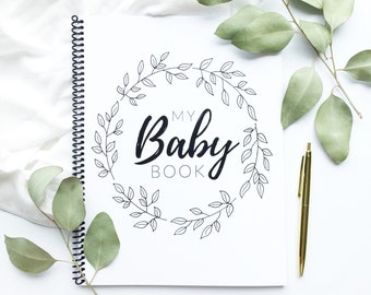 Baby Book   Modern Baby Album, Baby Journal, Gender Neutral, Scrapbook, Baby Boy, Baby Girl, Baby Shower Gift, Pregnancy Journal