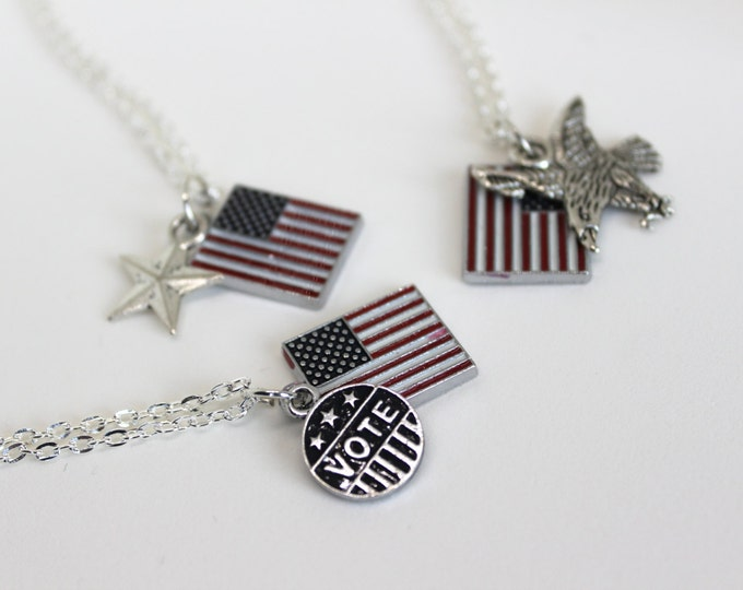 Fourth of July Independence day USA Necklaces.