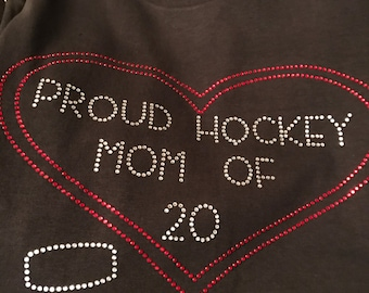 Proud Hockey Mom (Heart with puck)