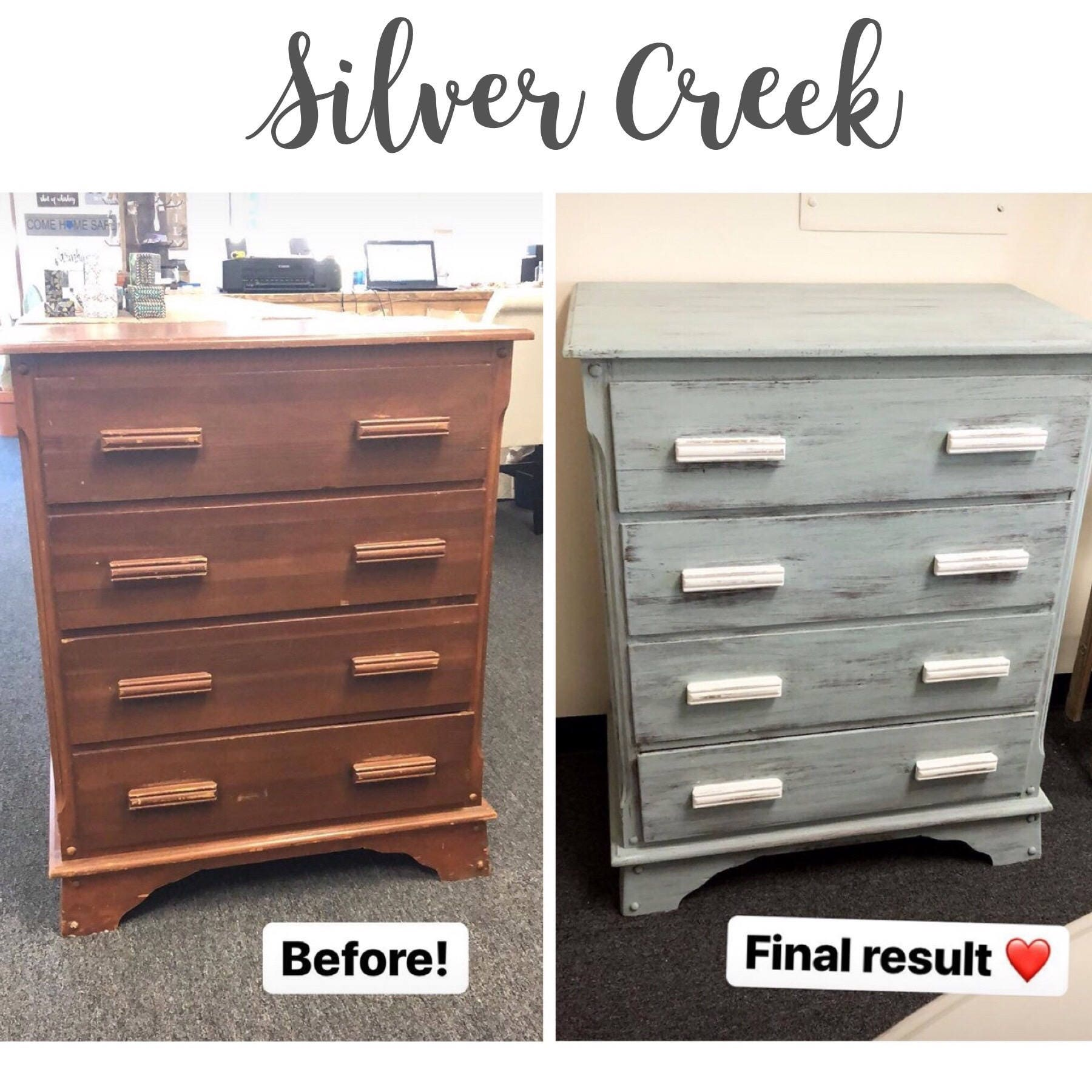 Silver Creek Chalk Paint, Premium Furniture Paint, Many Color Options,  Antique Finish, Vintage, Shabby Chic Paint,Non Toxic Decorative Paint