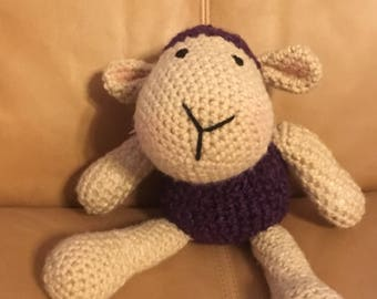 Sheep amigurumi Sheep plushie Sheep stuffed animal Easter Sheep in purple