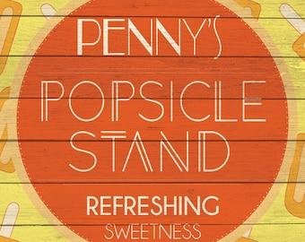 Custom Popsicle Stand Sign Digital Download