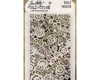 Tim Holtz DOILY Stencil - STAMPERS ANONYMOUS---THS018