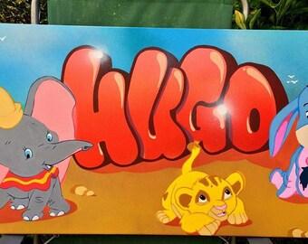 handmade custom graffiti name canvas