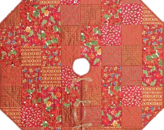Christmas Tree Skirt Quilt ePattern, 4639-1, Tree Skirt